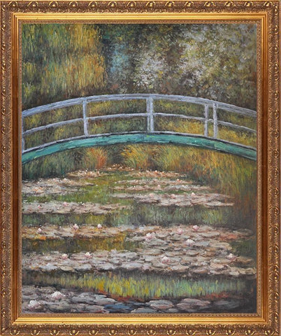 Hand Painted Water Lily Pond aka Japanese Bridge Oil Painting by Claude Monet - Amoy Shop
