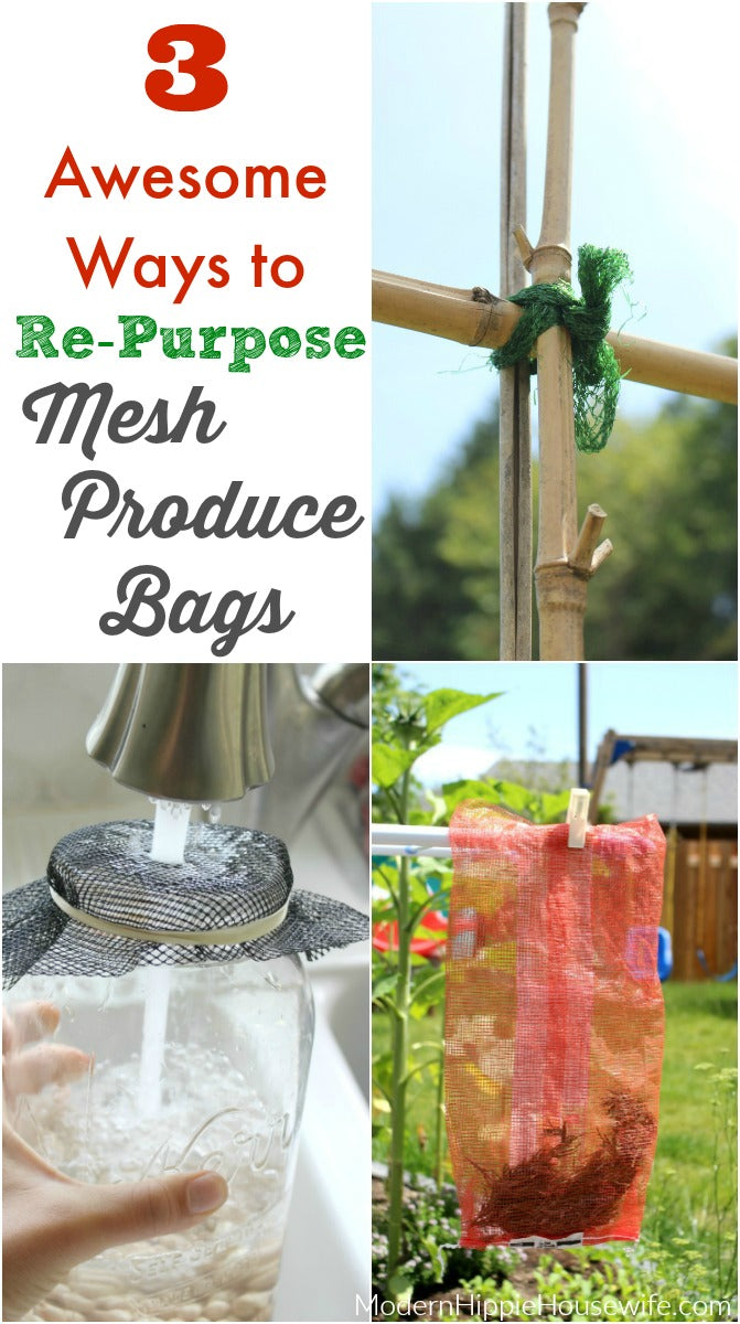 3 Awesome Ways to Re-Purpose Mesh Produce Bags