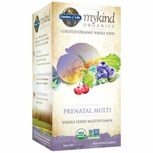 Garden of Life Organic Prenatal Multivitamin Supplement with Folate