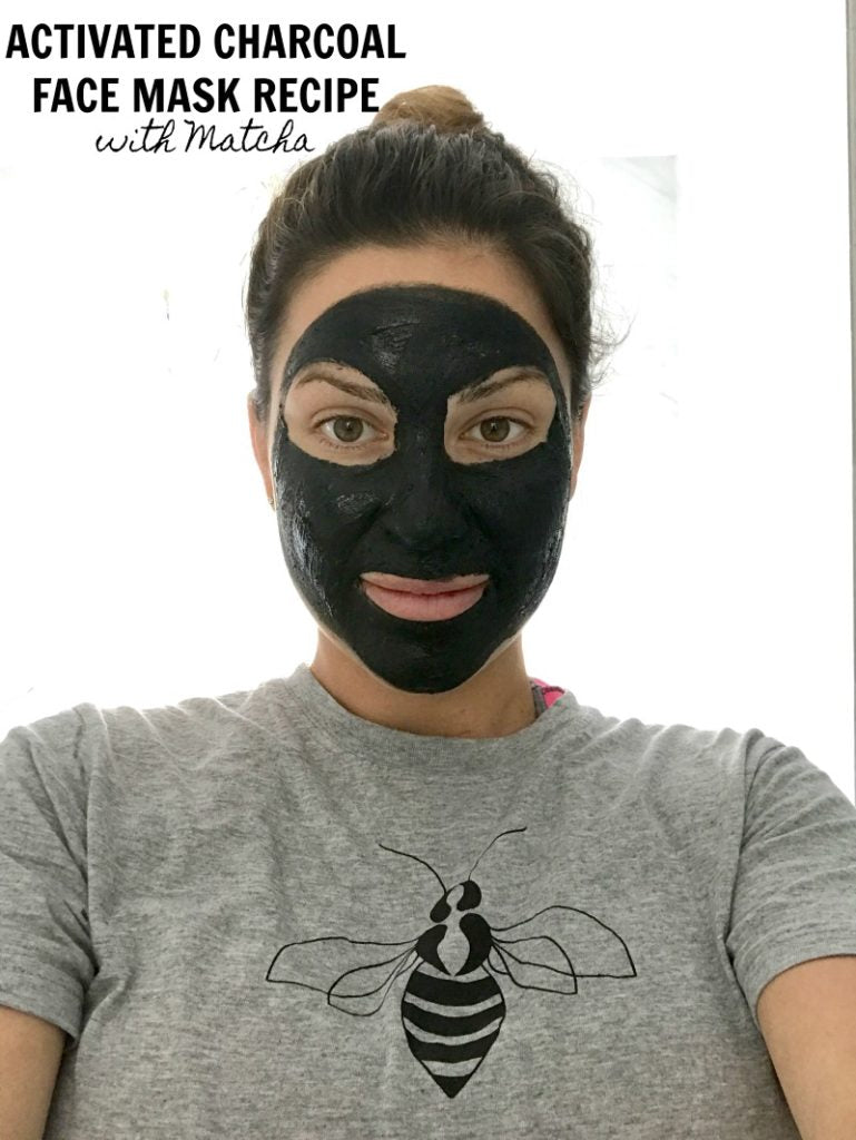 DIY Activated Charcoal Face Mask with Bentonite Clay and Matcha