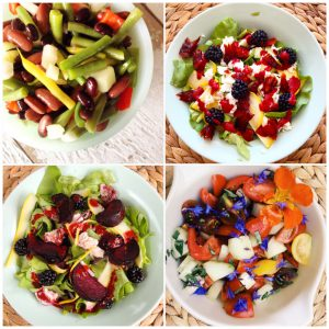 Amazing salads we made along the way. These are an example of cooking outside my comfort zone. (Follow my Intsagram for the recipes).