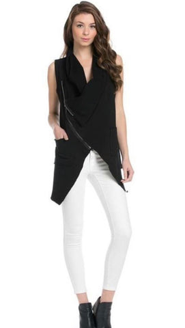 White Zipper Vest
