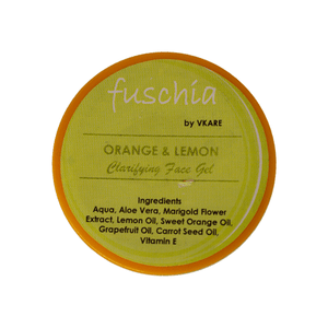 Fuschia Orange and Lemon Face Gel