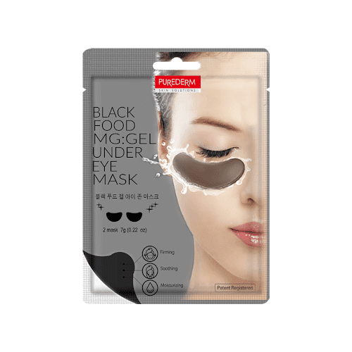 Purederm Black Food MG Gel Under Eye Mask