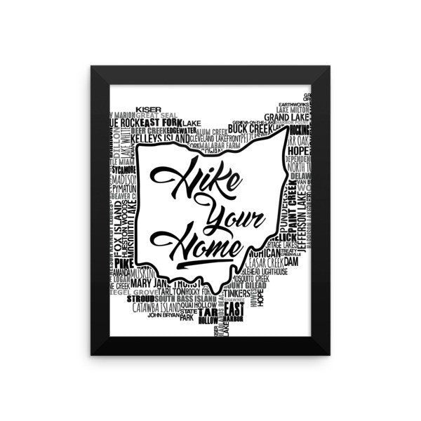 Hike Your Home - Framed Poster