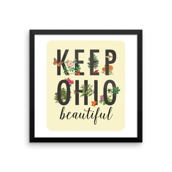 Keep Ohio Beautiful - Framed poster