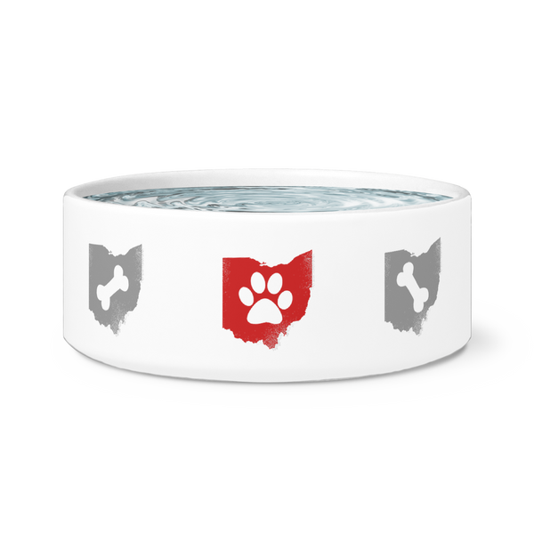Paws and Bones - Dog Bowl (7 color options!)
