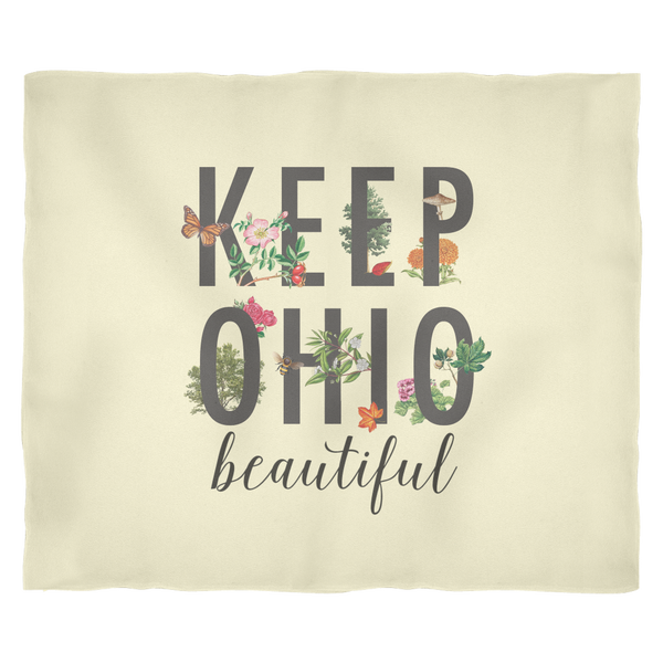 Keep Ohio Beautiful - Fleece Blanket
