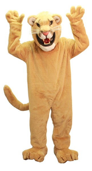 Golden Cougar Mascot Costume