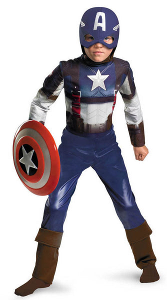 Kids Captain America Retro Classic Costume