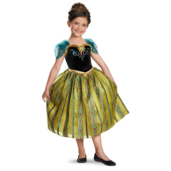Kids Anna Coronation Gown Deluxe Costume
