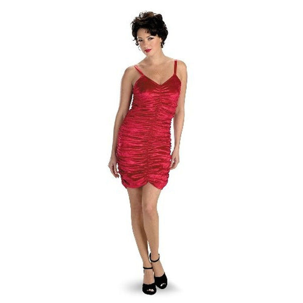 Adult Red Panne Coffin Dress