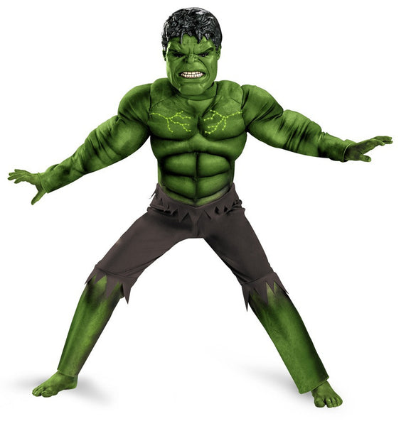 Child Hulk Light-Up Muscle Costume