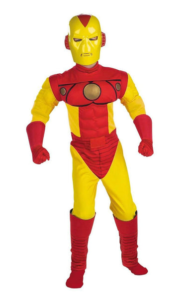 Kids Iron Man Muscle Deluxe Costume