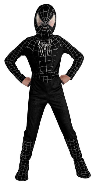 Kids Black Suited Spider-Man Deluxe Costume