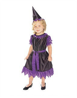 Kids Purple plum witch Costume