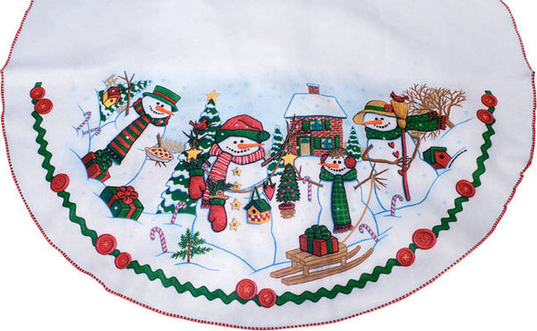 40in. Snowman Christmas Tree Skirt