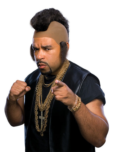 Adult Mr. T. Hammer Mohawk Wig