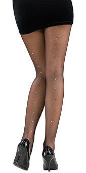 Sexy Rhinestone Seam Stocking