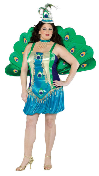 Adult Plus Peacock Costume