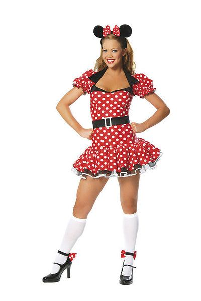 Adult 3pc Miss Mouse Costume Costume