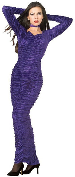 Adult Coffin Queen Purple Velvet Costume