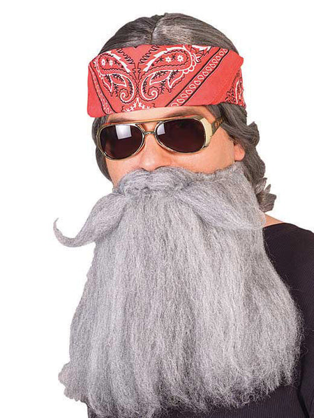 14 in. Long Mohair Beard & Moustache Set Costume R-2441
