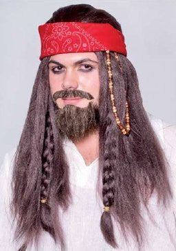 Pirate Wig w/ Headband - 1 pc per order