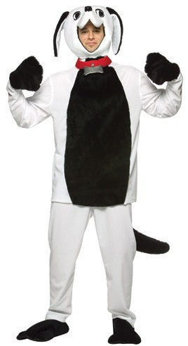 Adult Black/White Whattup Dog Costume