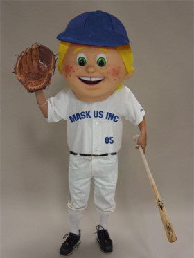 Baseball Kid Mascot (Head Only)
