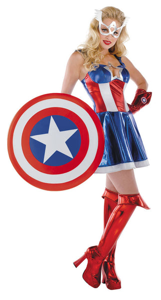 Adult Captain America Costume - Prestige Sassy Female