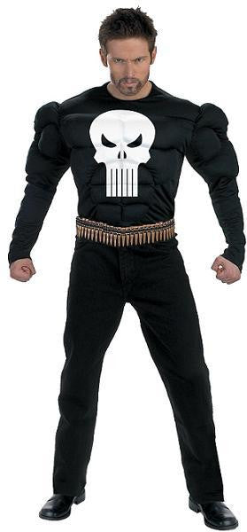 Adult Punisher Costume - Muscle Chest