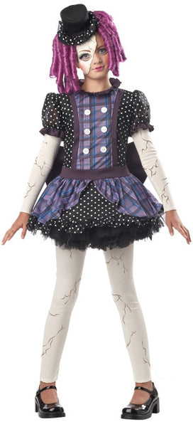 Kids Broken Doll Costume