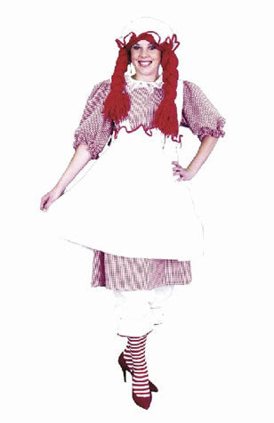 Adult Raggedy Ann Costume - Cotton
