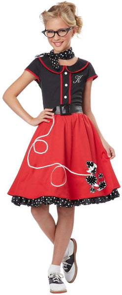 Kids 50's Red Sweetheart Costume