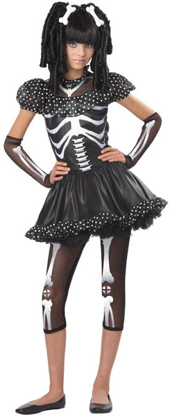 Kids Skeleton Girl Costume