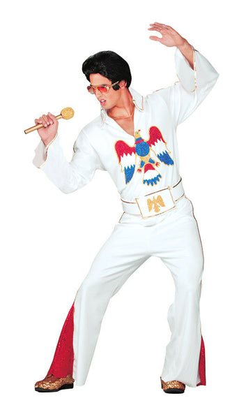 Elvis Presley Adult Costume - White Jumpsuit