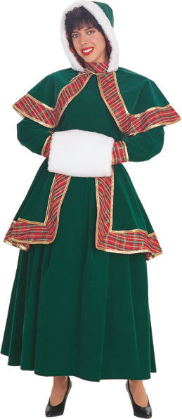 Long Victorian Christmas Caroler Costume
