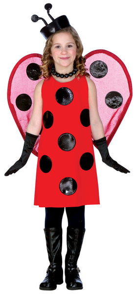 Red Lady Bug Kids Costume
