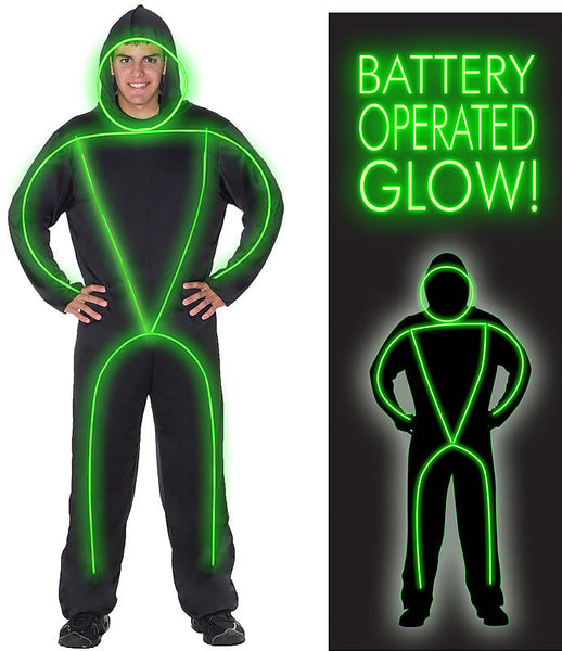 Adult GlowMan EL Wire Costume