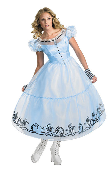 Adult Alice In Wonderland Deluxe Costume