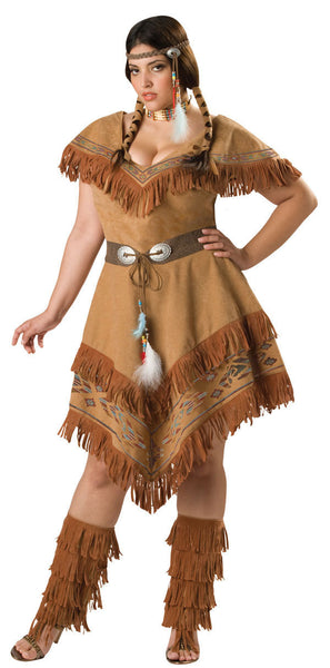 Adult Indian Maiden Plus Costume