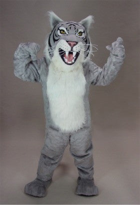 Grey Wildcat Mascot