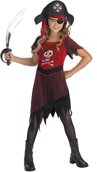 Girls Fortune Huntress Pirate Costume