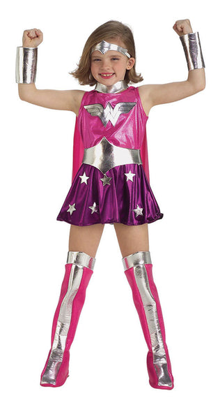 Kids Pink Wonder Woman Costume