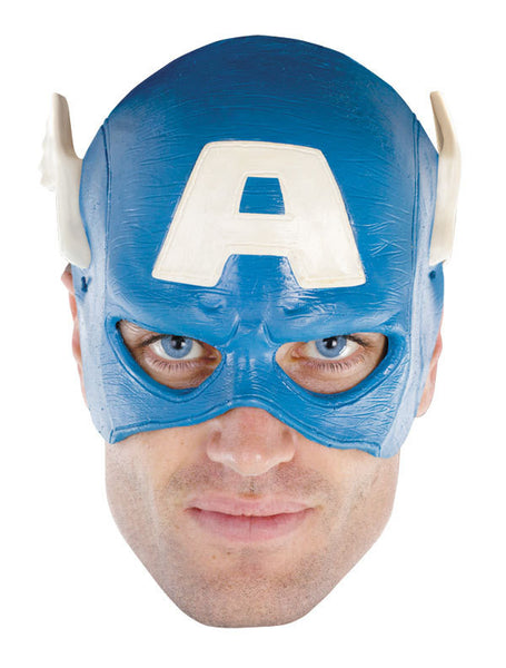 Captain America Adult Vinyl 1/4 Mask