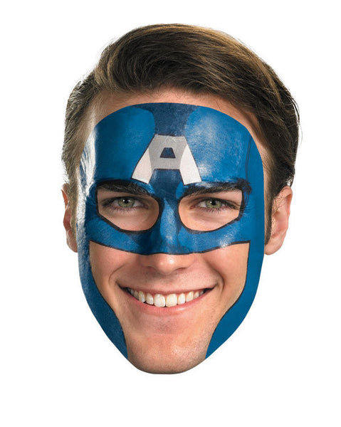 Adult Captain America Face Tattoo
