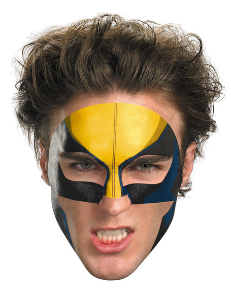 Adult Wolverine Face Tattoo