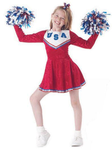 Kids Pep Rally Cheerleader Costume