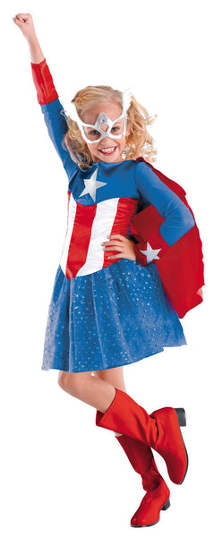Kids Captain America Costume for Girls